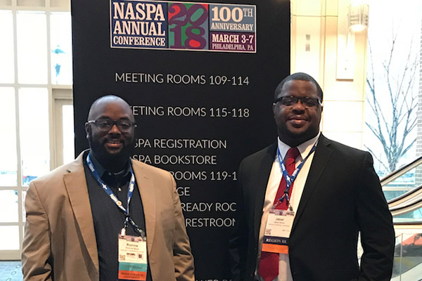 Jabal Moss, Ronnie Mack attended the National Association of Student Personnel Administrators (NASPA) Annual Conference in Philadelphia, PA