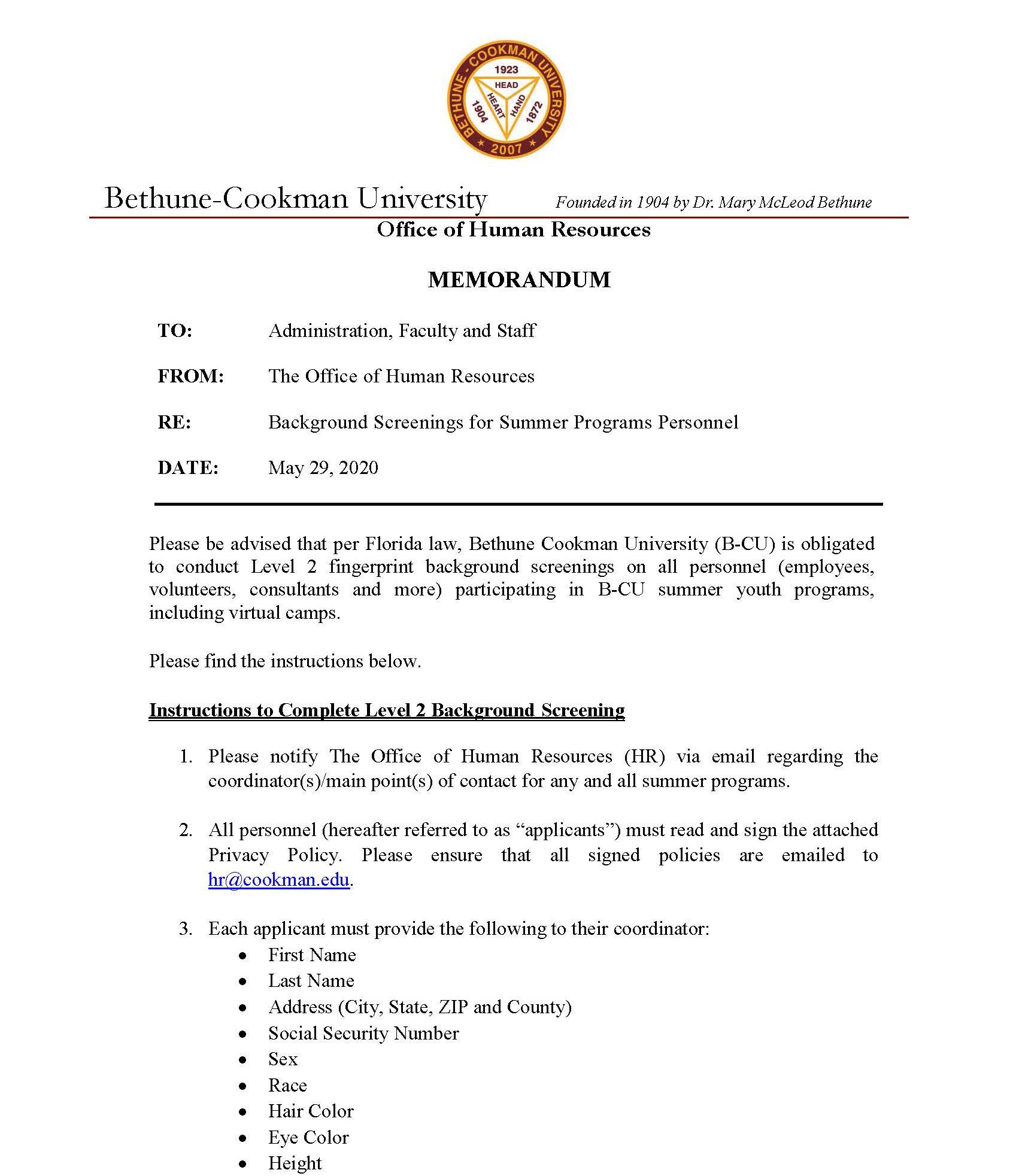 COVID-19 Updates | Bethune-Cookman University