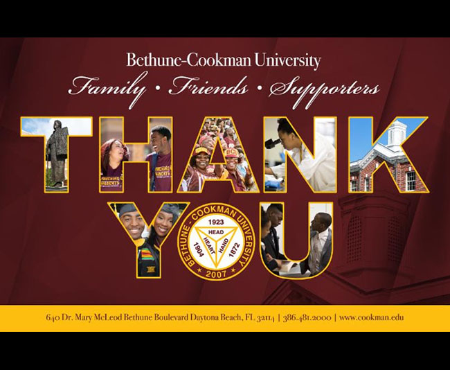 Thank you from Bethune-Cookman University!