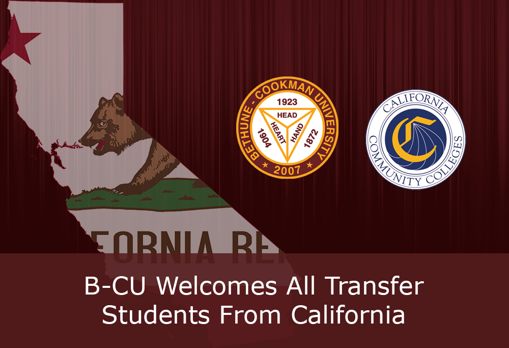 Welcome All Transfer Students from California