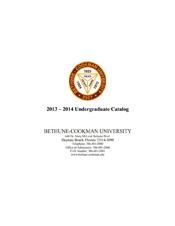Undergraduate Catalog 2014 - 2015
