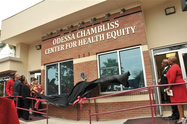 Odessa Chambliss Center for Health Equity Renaming ceremony