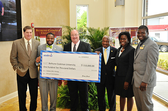 Sodexo, Inc. Presents $110,000 Check to B-CU